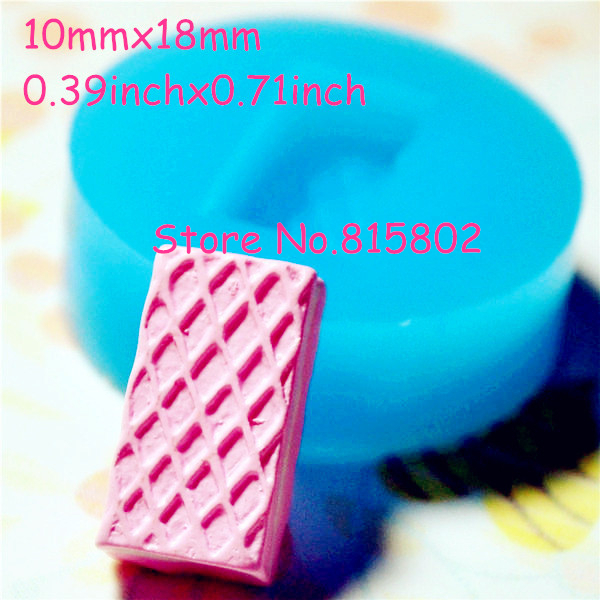Free Shipping GYL039U Wafer Waffer Biscuit Mold Flexible Silicone Mold 18mm - Sugarcraft Miniature Food Molds, Fake Sweet Mould(China (Mainland))