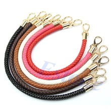 Free Shipping 11 colors Hot Sale Round DIY Replacement Handle Purse Shoulder Bags Handbag Strap(China (Mainland))