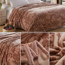 150x200cm/180x200cm Modern Printed Warm Soft Coral Fleece Blankets On Bed Bed Cover Throw Blanket(China (Mainland))
