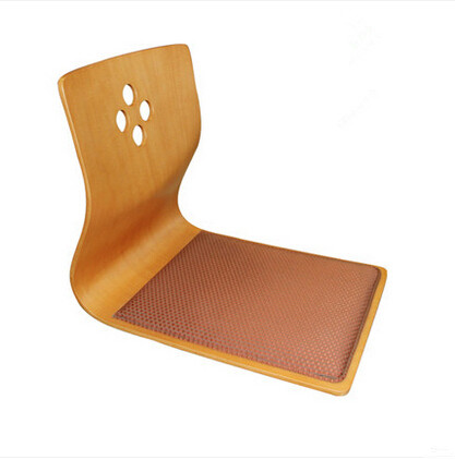 (4pcs/lot)High Quality Japanese Tatami Legless Chair Ash Wood Furniture Asian Living Room Floor Seating Zaisu Chair Wholesale(China (Mainland))