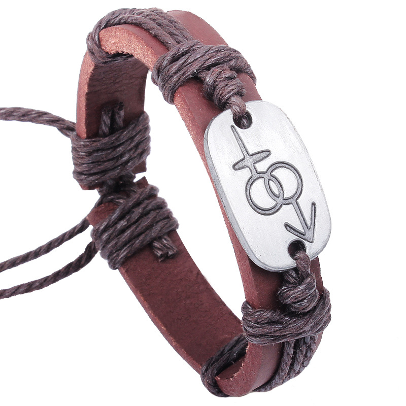 Fashion Lion Couple Bracele Genuine Leather Bracelets For Girls 2015 New Cute Friendship Bracelet Bangles Fine Jewelry Wholesale(China (Mainland))