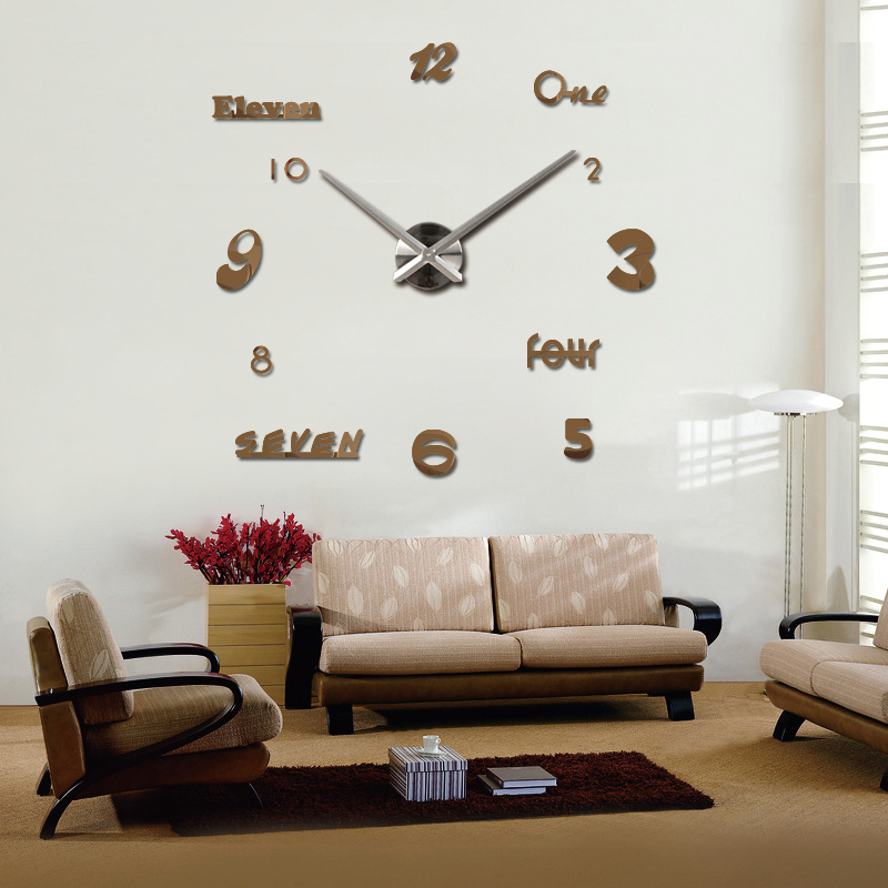 2016 new vintage wall clock modern design large diy for Decoration murale 1 wall