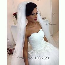 Vestidos de noiva Custom Made Handmade Tulle Appliques Women Summer Ball Gown Long Elegant Wedding Dresses