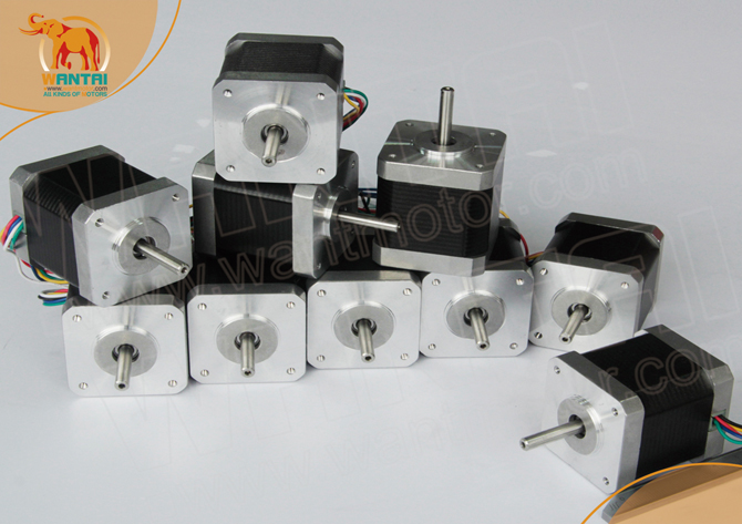 Фотография 10PCS Nema17 4800g.cm(70oz-in) 1.2A 48mm 4Lead  Wires Wantai Stepper Motor 42BYGHW804 for 3D printer CE&ISO Certified