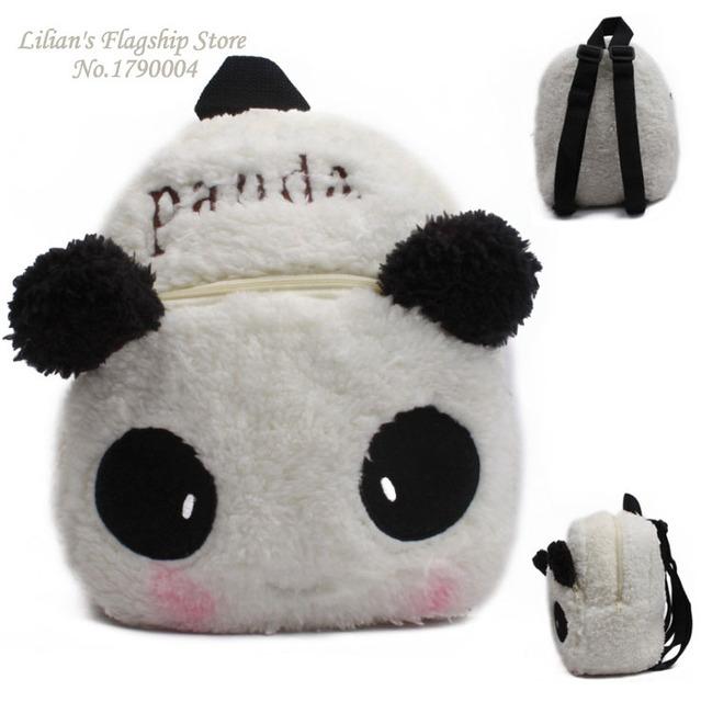 2016 новый термин китайский панда плюшевые мультфильм рюкзак дети характер мешок подарок для детей Mochila Infantil