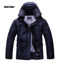 New Peuterey Mens brand Down Black/Navy Jackets With Fur Collar Size S-XXL,free shipping(China (Mainland))