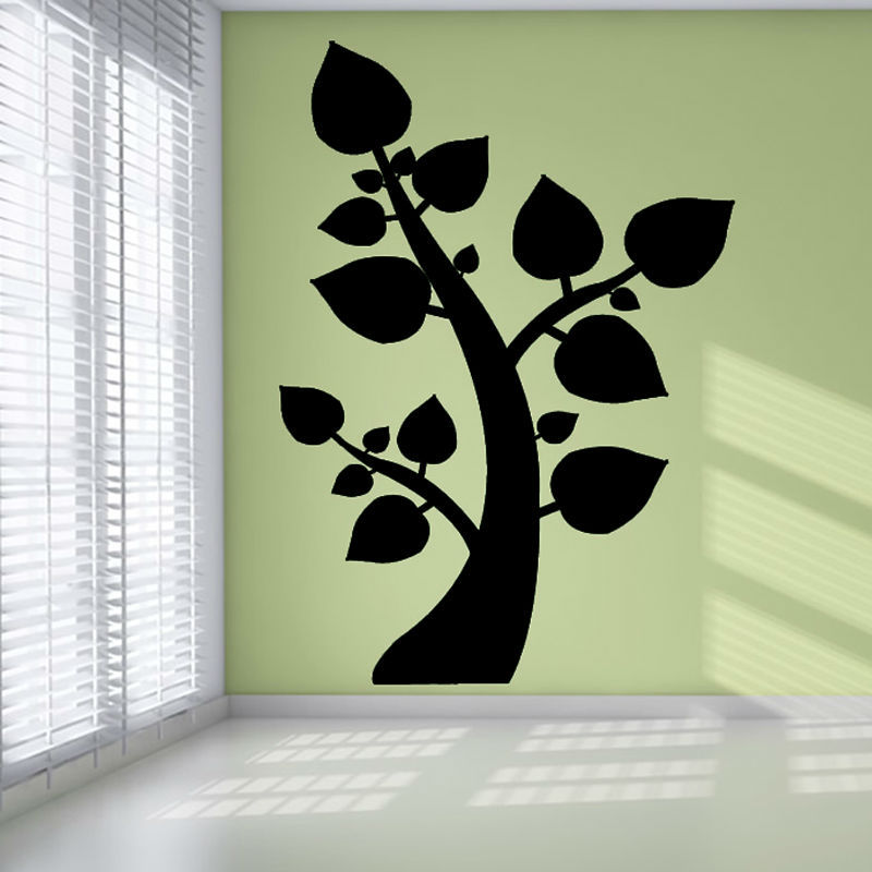 2015 Nature Style Plant Home Decor Waterproof PVC Adhesive Tree Branch Wall Decal Vinyl Sticker