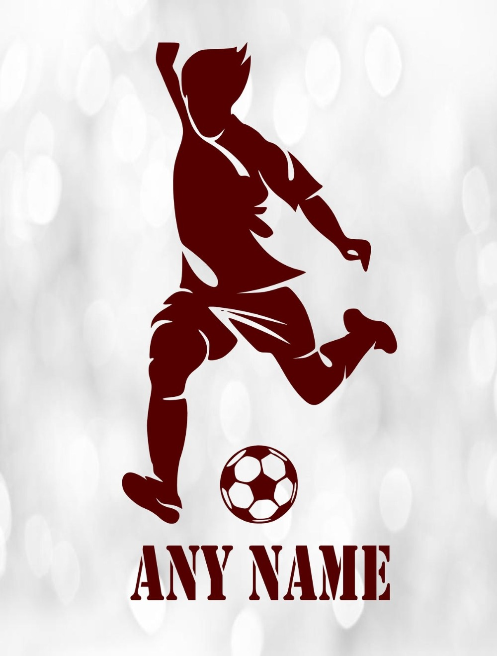 Custom made Personalized Football Player Vinyl Removable Wall Sticker Any Name Art Decal Custom Gift-You Choose Name and Color(China (Mainland))