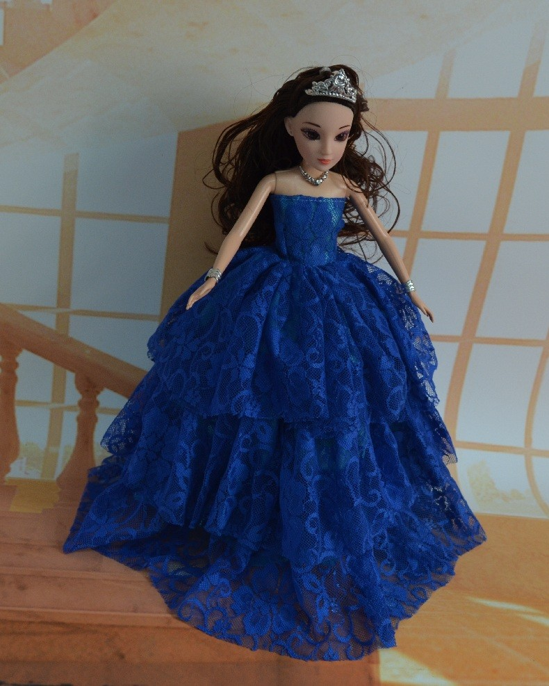 Celebration Garments Vogue Costume for barbie Princess Night  Wears Costume Outfit Set for Barbie Doll Christmas Reward