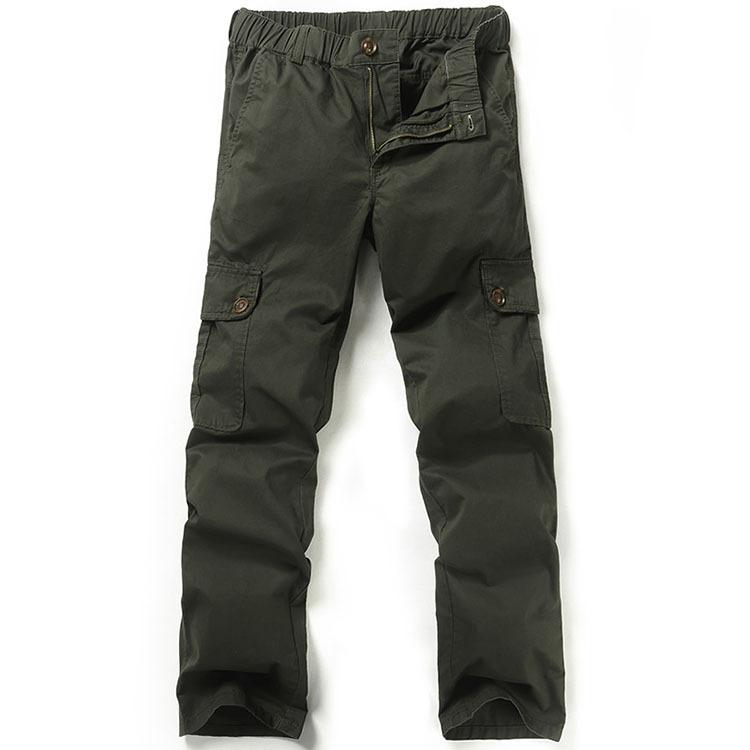 elastic cargo pants - Pi Pants