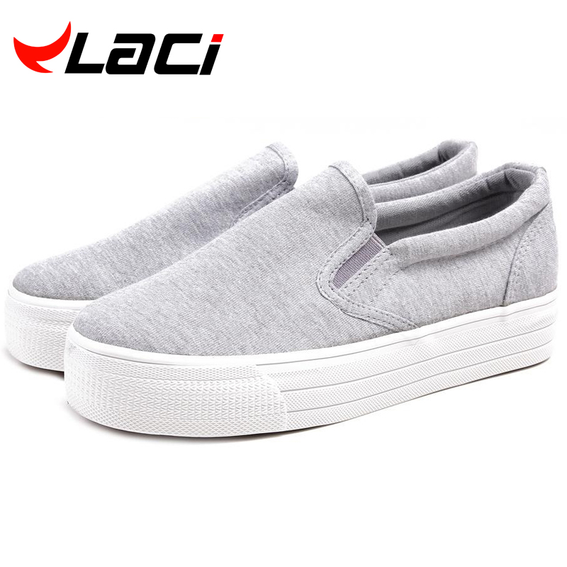 2016 Ladies Canvas Shoes Platform shoes Flats Slip On Solid Woman Leisure breathable Shoe Female Fashion Casual Shoes creepers(China (Mainland))