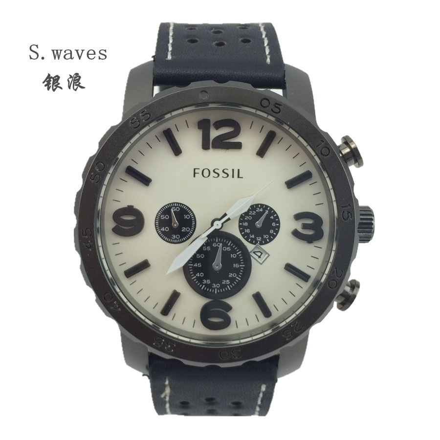 New Brand Wristwatch Quartz Watch Date DZ American Men Leather fossiler Casual Fashion Army Stainless Masculino