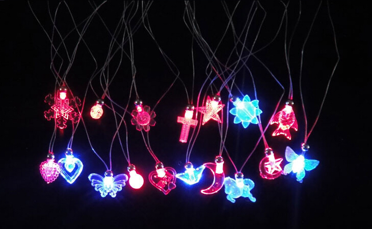 electronic toys flash led necklace,light up glow toy decorations wedding festive supplies 900pcs/lot<br><br>Aliexpress