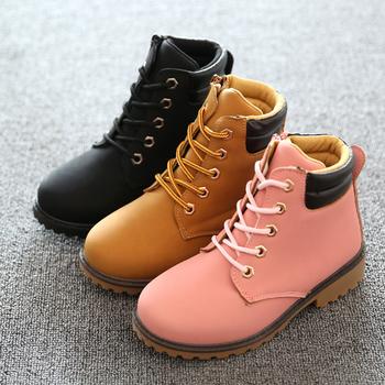 Размер EU 30 ~ 35 детская обувь 2015 новый высокое качество весна осень сапоги для мальчиков / девочек, скольжению девочек и мальчиков обувь