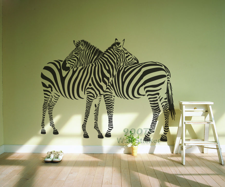 New 2014 big zebra wall stickers home decor home for Decoration zebre
