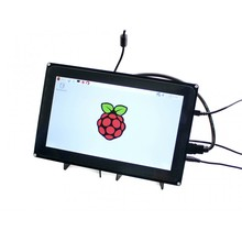 Waveshare 10.1inch HDMI LCD (H) (with case) Capacitive Touchscreen Display for Raspberry Pi  B+ 2 B/ 3 B & BB Black Video Inputs(China (Mainland))