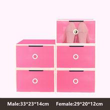 NEW5PCS Magnetic Automatic Door Eco-Friendly Shoe Storage Box Case Transparent Plastic Storage Box Rectangle PP Shoe Organizer(China)