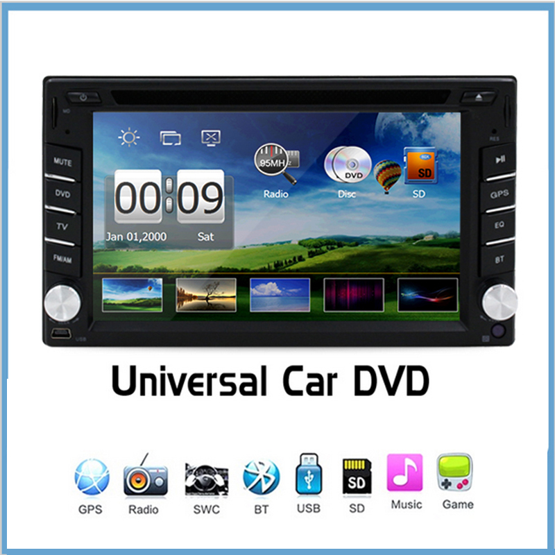 Universal 2 din New Car Radio Double 2 Din Car DVD Player GPS Navigation In dash Car PC Stereo video Free Map Car Electronics(China (Mainland))