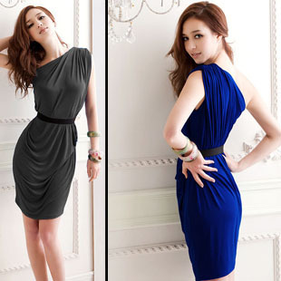 Free shipping Dress/ Inclined Shoulder Dress/ Hot Selling Party Dress/Evening Gown