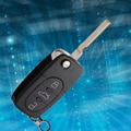 2016 hot sale 3 Buttons Replacement Folding Remote Key Case Shell Entry Fob Blade for Audi