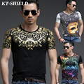 Summer new Print T shirt Men fashion design hip hop t shirt men luxury tops cotton