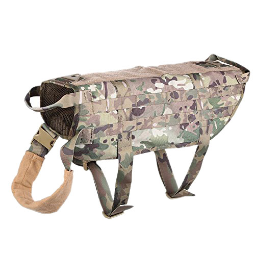 GSFY-Tactical Police Dog Training Molle Vest Harness CP camouflage M