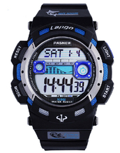 New men sports watches Top brand PASNEW LED electronic wristwatch 100 meters waterproof fashion man outdoor