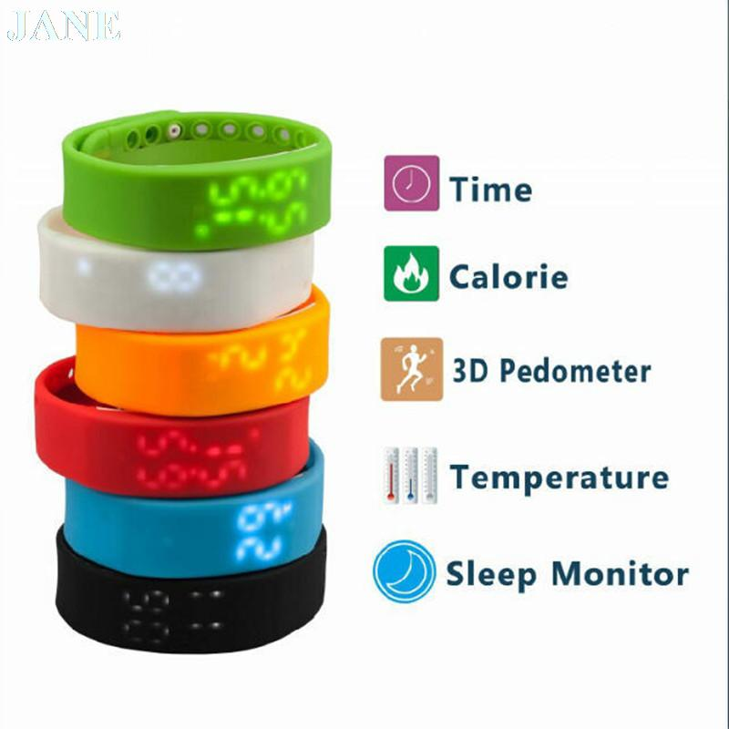 New USB Wristband Pedometer Smart Sports Bracelet LED Healthy Silicone Bracelet Calories Sleep Monitor Gift Watch