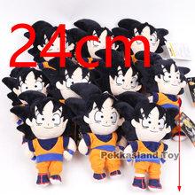Anime Dragonball de Son Goku De Dragon Ball Z Brinquedos de Pelúcia Chaveiro De Pelúcia Pingente de Pelúcia Bonecas Para As Crianças Presentes 10 pçs/lote(China)