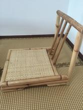 Modern Rattan Bamboo Chair Japanese Style Tatami Zaisu Living Room Furniture Bamboo Legless Floor Chair Rattan Hand Crafted(China (Mainland))