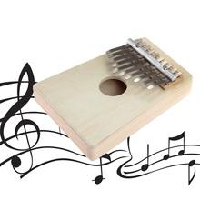 10 Keys Kalimba Mbira Likembe Sanza Thumb Piano Pine Light Yellow Instrument Hot Selling(China (Mainland))
