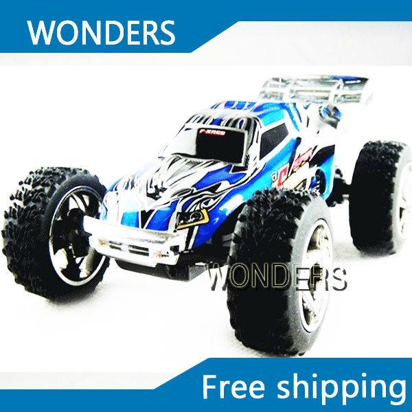 1:23 RTR WL Mini RC remote contorl racing Car Truck dirt bike W/ Super Amazing high speed 20-30kh/M (2 colors) choose Toy