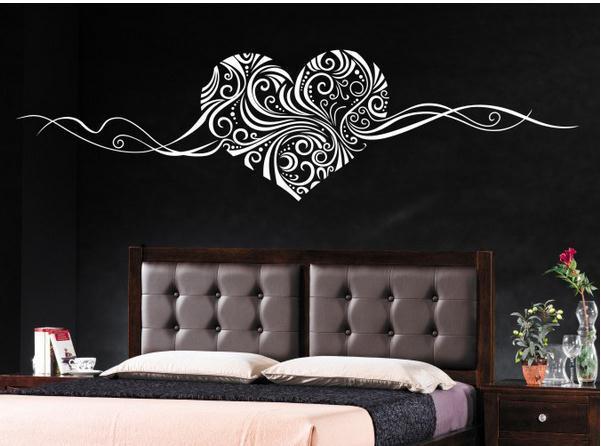 Finised размер 157 * 42 см романтическое в форме сердца съемные стикеры стены домашнего декора стены искусства любовь свадебные украшения семейные наклейки