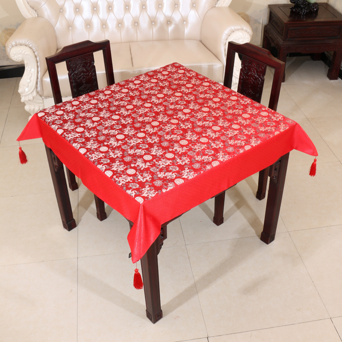 110*110cm Pastoral Chinese pattern waterproof oilproof and anti-heat brocade table cloth( various size can be customized)(China (Mainland))