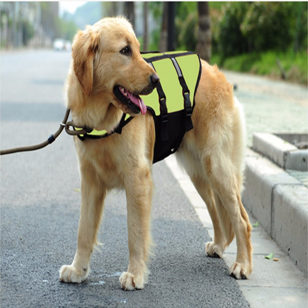Family Lucky pet dog swimming suit dog with life vest dog clothes pet life vest(China (Mainland))