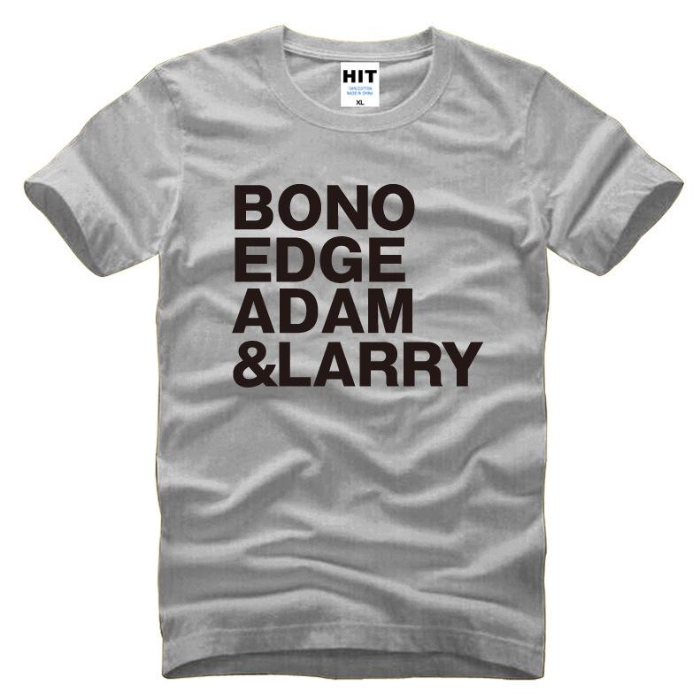 Rock Band U2 T Shirt BONO EDGE ADAM LARRY T Shirt Men Short Sleeve O Neck Cotton New Alternative Rock T Shirt Tops Tee(China (Mainland))