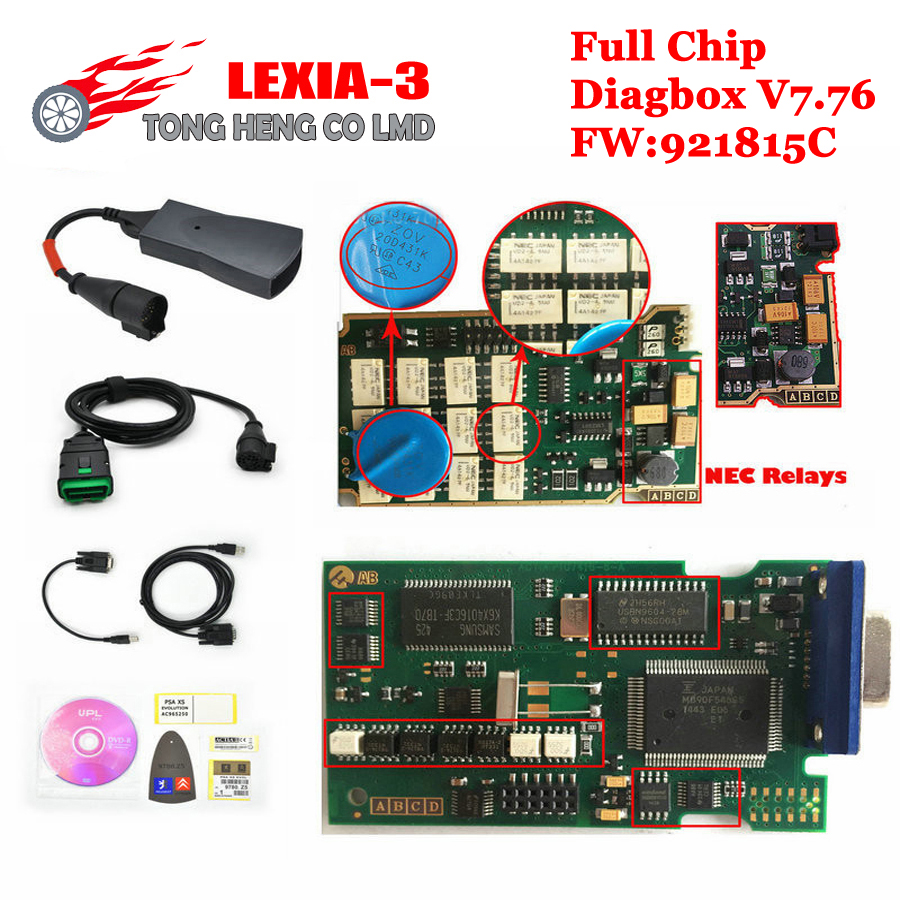 Low!!! V7.76 with Serial 921815C With Full Chip Lexia 3 PP2000 Diagbox Lexia3 Lexia-3 V48 PP2000 V25 for Ci-treon and Peu-geot(China (Mainland))