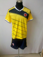 2013 2014  Colombia yellow jersey, hot best  quality 2013/14 home soccer jerseys Columbia soccer shirt, falcao # 9 ESCOBAR # 2