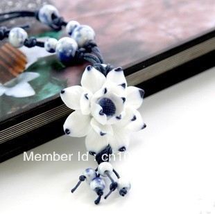 Jingdezhen factory direct, handmade original ceramic necklace, sweater chain