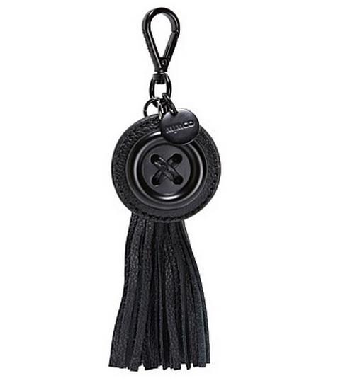 Mimčo рождения кнопку брелок черный матовый цвет с тегом dustbag