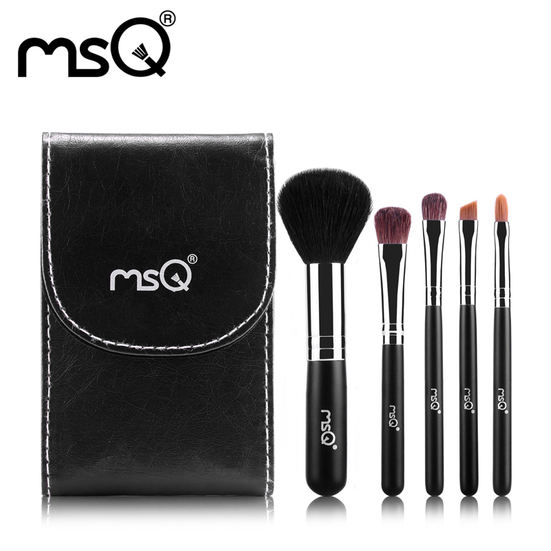 natural Professional Brand brands brushes 5pcs Hair  cosmetic bristle set makeup  makeup Animal brush MSQ