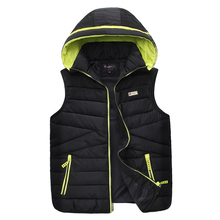 Zipper & Snap Placket Men Casual Waistcoat Winter Warm Vest Jacket M-2XL Brand Hoodies Vest Slim Fit Men's Outwear Sleeveless(China (Mainland))