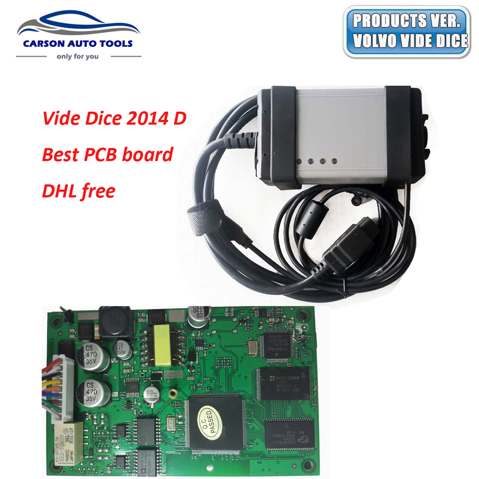 2014D Full Chip For Volvo Vida Dice Diagnostic Tool Vida Dice Pro For Volvo With EWD Software As Free Gift Professional Scanner(China (Mainland))
