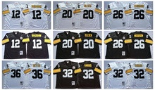 Pittsburgh Steeler Terry Bradshaw Rocky Bleier LeVeon Bell Franco Harris Jerome Bettis Throwback for mens,camouflage(China (Mainland))
