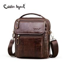 Cobbler Legend Brand Men's Genuine Leather Business Bag 2016 Men Shoulder Bags High Quality Male Handbags For Men #812166-1(China (Mainland))