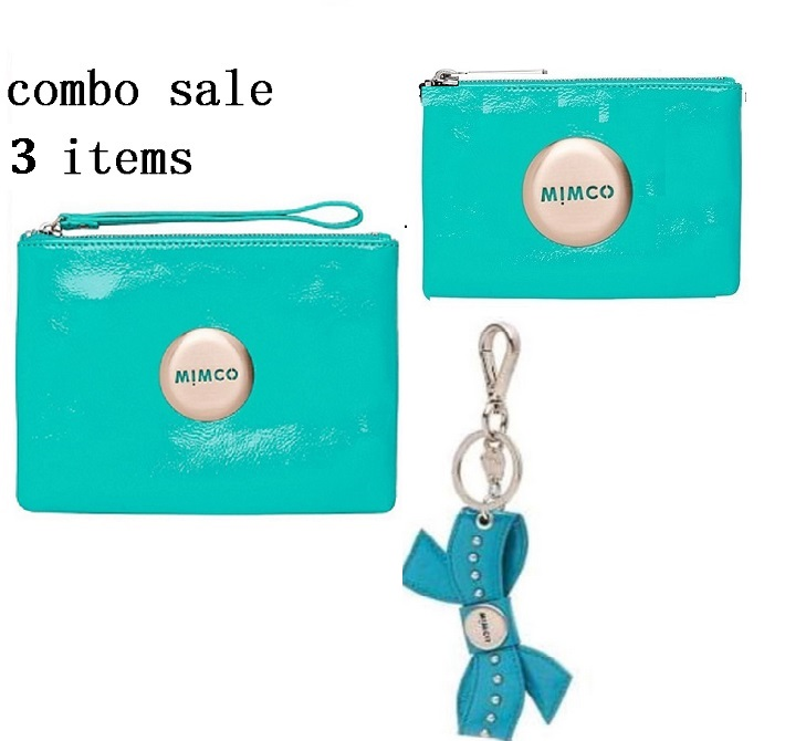 COMBO SALE 3 ITEMS MIMCO TURQUOISE   MEDIUM POUCH PLUS TURQUOISE MIM POUCH<br><br>Aliexpress