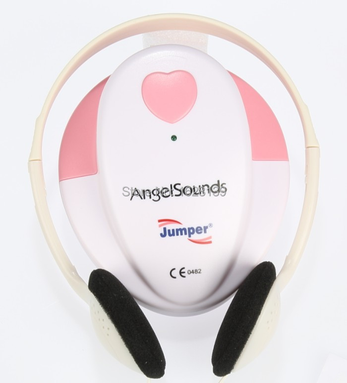 Baby Fetal Doppler Angel Sound Heart rate Monitor Portable Angelsounds Detector fetal doppler monitor 3MHZ with headphone(China (Mainland))