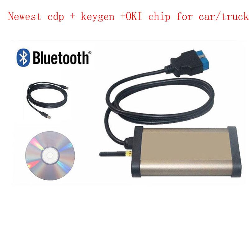 2013 CDP Pro cars & trucks(Compact Diagnostic Partner ) OKI CHIP Car diagnostic tool FOR AUTOCOM + DHL Shipping WA0001