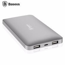Buy Baseus 10000mAh Dual USB Power Bank Portable Mobile Phone External Battery Charger Powerbank iPhone 7 6 6s Xiaomi mi5 Redmi3 for $25.99 in AliExpress store
