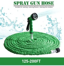 Top Selling 200FT Garden Hose Expandable Magic Watering Hoses Garden Water Pipe With Spray Gun Drip Irrigation Weapons Mangueira(China (Mainland))